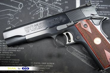 """Custom Made - Nova """" Gold Cup Nation Match """" Aluminum Frame & Slide Kit with Marui Airsoft S70 1911 - Black ( Limited )"""