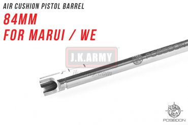 Poseidon Air Cushion Pistol Barrel 84mm ( For Marui / WE ) ( Hop Up Rubber Not included )
