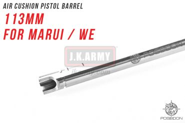 Poseidon Air Cushion Pistol Barrel 113mm ( For Marui / WE ) ( Hop Up Rubber Not included )