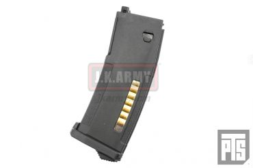PTS Enhanced Polymer Magazine for PTW M4 / M16 Series ( Black / 120 Rds ) ( EPM PTW )
