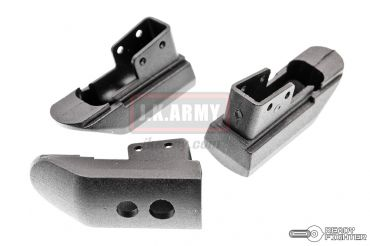 Ready Fighter Magazine Base Pad for Marui 1911 / MEU GBB Series ( Warrior Style ) ( Black ) ( Extended Base Pads )