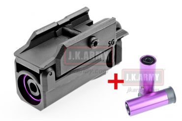 SG Tactical 20mm Grenade Launcher ( BK ) extra 2pcs PPS Gas Metal Shell ( Kit A )