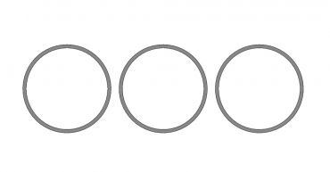 Alpha Pipe Tube Cap & Barrel Nut Precision Washers ( 0.05, 0.1, 0.2 ) for M4 Series PTW