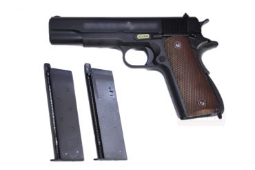 WE M1911 A1 Full Metal GBB Pistol with Extra Magazine