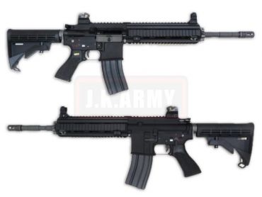 WE 416 Gas Blow Back Open Chamber Rifle Black Edition (GBB)