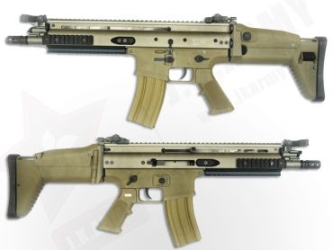 WE SCA-L Gas Blow Back Open Chamber Rifle (GBB) (Desert Edition)