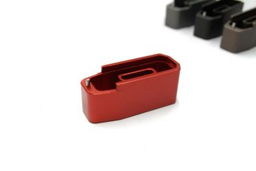 CNC Aluminum Mock - Extension for Polymer Magazine M3 B*M Style for PTW & GBB ( MWS ) ( Red )
