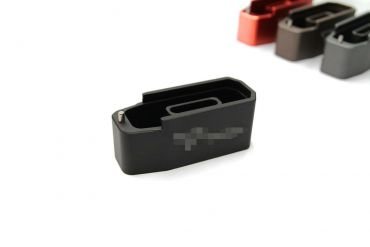 CNC Aluminum Mock - Extension for Polymer Magazine M3 w/ T Engravings for PTW & GBB ( MWS ) ( Black )