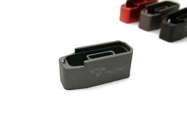 CNC Aluminum Mock - Extension for Polymer Magazine M3 w/ T Engravings for PTW & GBB ( MWS ) ( Grey )