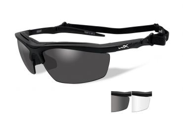 WILEY X Guard Grey/Clear Matte Black Shooting Glasses