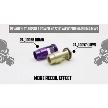 Revanchist Power Nozzle Valve ( Low ) For Marui M4 MWS ( TM MWS )