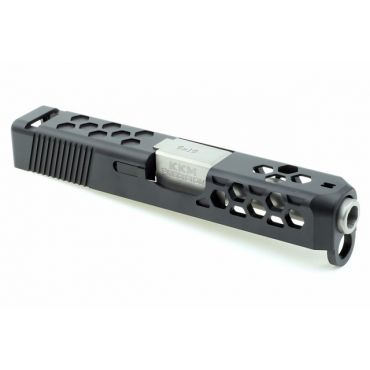Guns Modify Aluminum Slide with Stainless Silver barrel set for Model 26 Hex style