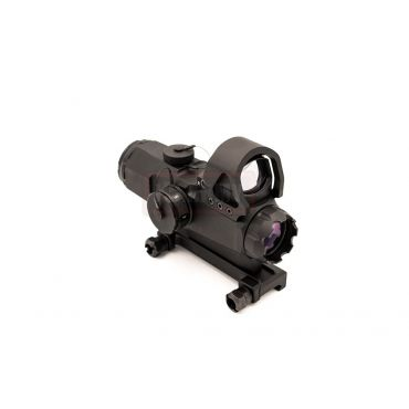 MF LP Style CL 4X Airsoft Scope w/ Reflex Sight Red Dot ( Black )