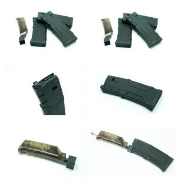 Alpha PTW M4 Series 120 Rds Polymer Magazines Box Set (3 Mags,1 BB Loader) ( Black )