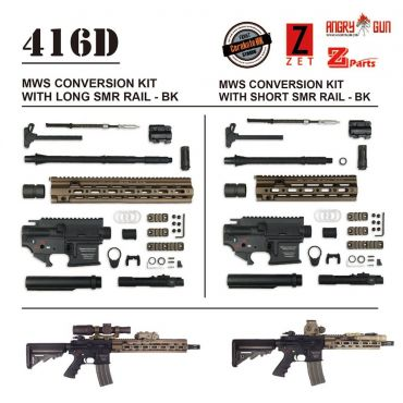Angry Gun 416D TM MWS Conversion Kit with 14.5 inch SMR Rail ( Black / FDE ) ( Marui MWS )