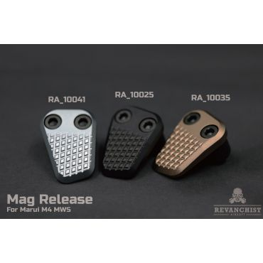 Revanchist Mag Release For Marui M4 / AR MWS ( Black / Tan / Grey )