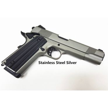 Unicorn Precision Inc x Angry Gun Custom 1911 Gas Blow Back Pistol ( Basic Version ) ( Stainless Steel Silver )