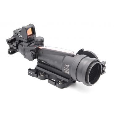 MF M27 Style 3.5X Optic Fiber Illuminated Scope with RMR Style Red Dot Sight ( BK ) ( ACO PUBG Scope Style )