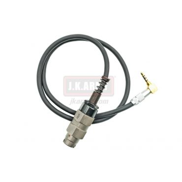 3.5mm Type to Military Type Pin Adapter Cable Wire