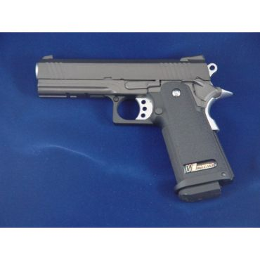 WE Hi-Capa 4.3 GBB Pistol (Black / Silver)