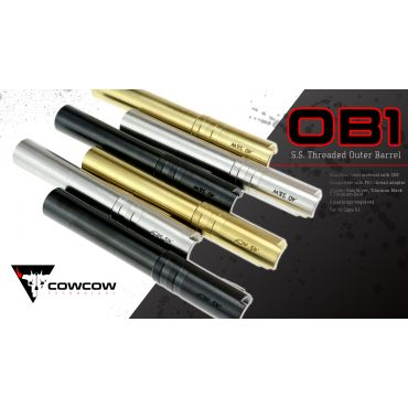 COW OB1 Threaded Outer Barrel for Hi-Capa 5.1 (.40 Marking)