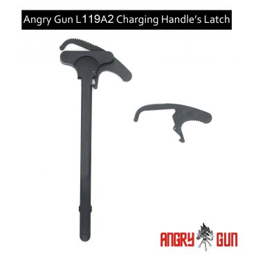Angry Gun L119A2 Charging Handle Latch GBB Version ( Black )
