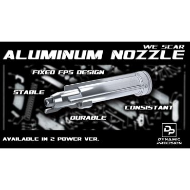Dynamic Precision Aluminum Nozzle For WE Scar Low Power Ver. ( 1.3J )