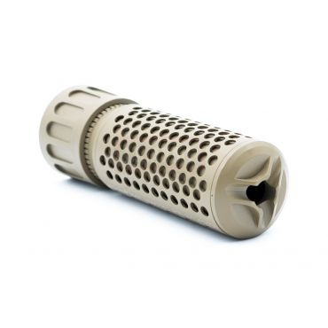 5KU KAC Style CQB QD Flash Hider & Barrel Extension ( Tan ) ( 14mm CCW )