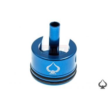 A1A Aluminum Cylinder Head for Ver.3 ( AK ) Gearbox Long w/ Cushion Pad ( Blue )