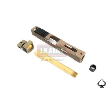 Ace One Arms FI Style MARK 2 Slide Set w/ RMR Ver. For Marui / WE G Series ( FDE ) ( G Model )