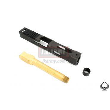 Ace One Arms FI Style MARK 2 Slide Set Standard Ver. For Marui / WE G Series ( Black ) ( G Model )