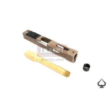 Ace One Arms FI Style MARK 2 Slide Set Standard Ver. For Marui / WE G Series ( FDE ) ( G Model )