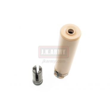 Airsoft Artisan SOCOM RC 1 Silencer with 4P Flash Hider ( Dark Earth ) ( 14mm CCW )