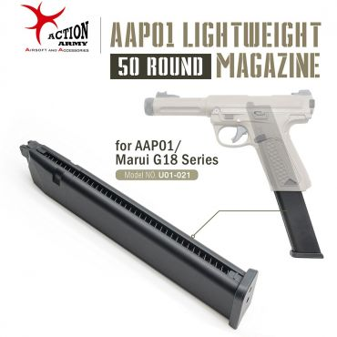 Action Army Lightweight 50 Rds Gas Magazine for AAP01 / TM Marui G18C ( For AAP-01 / TM / WE AW / KJ G Model Spec )