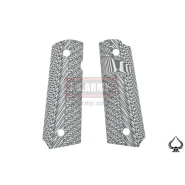 Ace One Arms G10 1911 Grip Pieces Version 2 ( Grey ) ( Fiberglass )