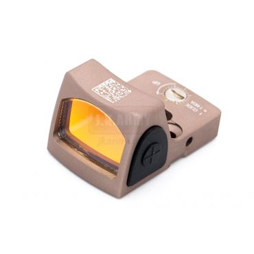 Ace One Arms RMR Style Airsoft Red Dot Sight with DD Style Red Dot Back Up Sight Base for G Model ( FDE )