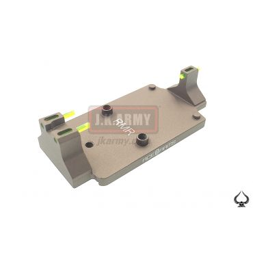 Ace1 Arms DD Style Red Dot Back Up Sight Base for Glock ( FDE )