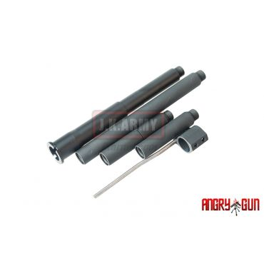 Angry Gun Multi Length 300 Blackout Outer Barrel Set for Marui MWS M4 GBB( 14mm CCW )