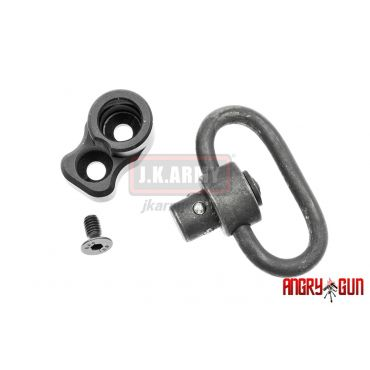 Angry Gun SCAR Rear QD Point Set with QD Sling Swivel ( Black )