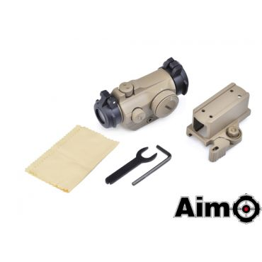 AIM-O T2 Red Dot With QD Mount & Low Mount ( DE )