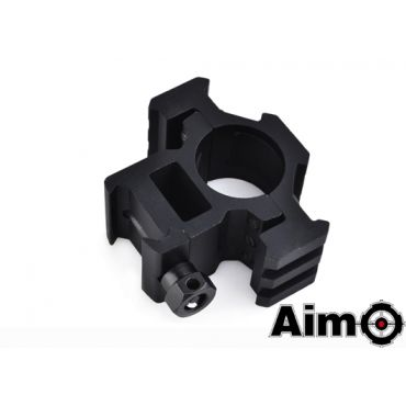Aim-O Tri-Side Rail Extend 25.4mm Ring Mount ( BK )