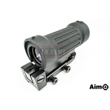 AIM-O 4x30 Tactical Elcan Style Scope for Airsoft ( BK )