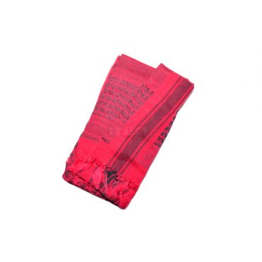 Arab Shemagh Keffiyeh Scarf ( Red Black )