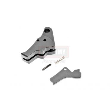 BA AP Style CNC Aluminum Trigger for Marui / WE / VFC Airsoft G Model GBB Series ( All Black )