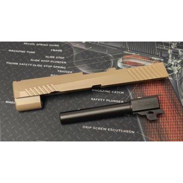 Bomber CNC Steel P320 M17 Slide Kit for SIG / VFC M17 GBB series ( Tan ) ( Cerakote Limited Edition )