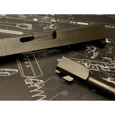 Bomber CNC Steel 19 Slide Kit for Tokyo Marui Model 19 GEN 3 GBB ( Black Limited )