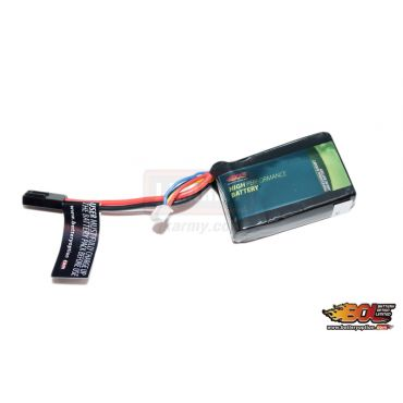BOL 11.1V 1300mAh 30C Li-Po 3 Cell Battery ( PEQ Size Pack )
