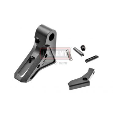 Bomber FI-Style CNC Aluminum Trigger for Marui / WE / VFC Airsoft Model 17/18/22/34 GBB Series ( Black )