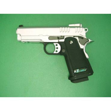 WE Baby Hi-Capa 3.8 GBB Pistol ( Slide Type C - Silver )