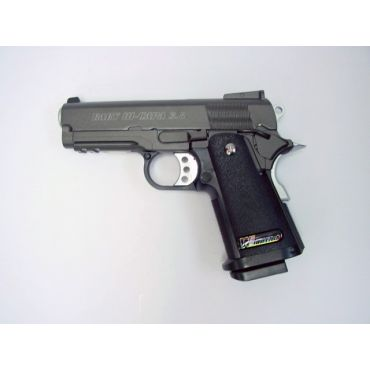 WE Baby Hi-Capa 3.8 GBB Pistol ( Slide Type B  - Black )